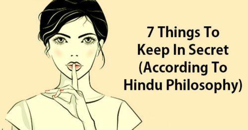 7 Things To Keep In Secret (According To Hindu Philosophy)