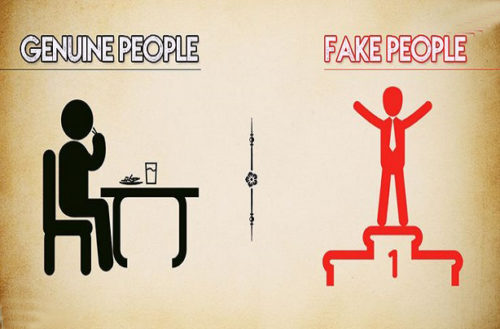 10 Crucial Differences Between Fake And Genuine People
