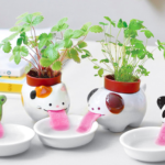 Amazing Animal Planters That Keep Themselves Hydrated By Drinking Water From Their Own Little Bowls