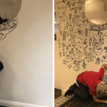 A Talented 9-Year Old Kid Gets A Job Decorating A Restaurant With His Drawings