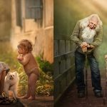 Photographer Captures Little Kids And Their Grandparents And The Photos Are Amazing